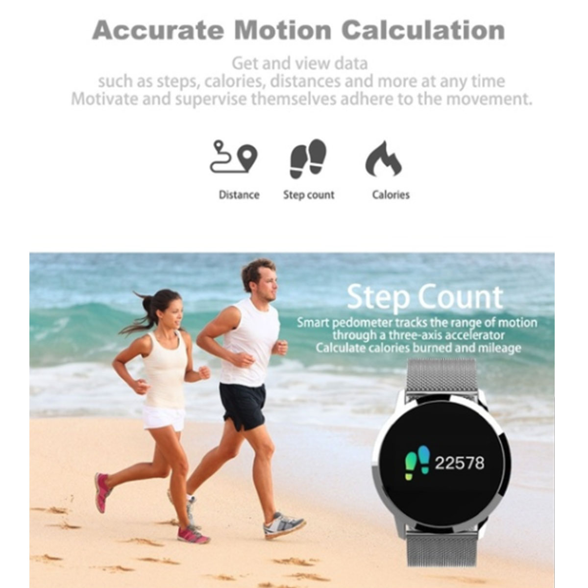 Image 3 - Q8 Smart Watch OLED Color Screen Touch Control Smartwatch Men Women Thin light Fashion Fitness Tracker Heart Rate monitor-in Smart Watches from Consumer Electronics