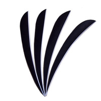 50pcs/ 1Bag Archery Arrow Feather 5 Inch Turkey Arrow Drop Shape Black Vane Fleching Hunting Accessories