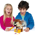 Оптовая 12 компл./лот Звучание Сторожевой осторожно, злая собака игры игрушки родитель-ребенок интерактивная игрушка валиться с ног коррида собака ребенок подарок