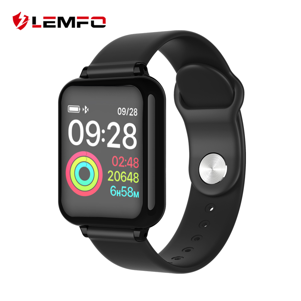 LEMFO 2019 1.3 Inch IPS Color Display Smart Watch Men IP67 Waterproof Heart Rate Monitor Smartwatch For Android IOS Phone