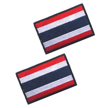 Embroidery Badge Thailand's National Flag Of Thailand Military Embroidered Badges Tactical Patch For Outdoor Clothing Cap Bag embroidered patches united states montana state flag patch tactical 3d national flags army armband badge