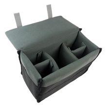 Мягкая защитная сумка для зеркального фотоаппарата, объектива и аксессуаров черного цвета