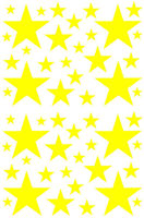 52 YELLOW STARS VINYL GIRL BEDROOM WALL DECALS STICKERS Teen Baby Girl Nursery 22inx35in