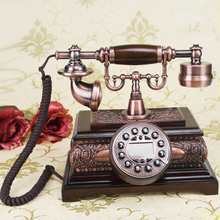 Dickdenton/ Dick Denton genuine solid wood European style antique decorative craft fixed telephone