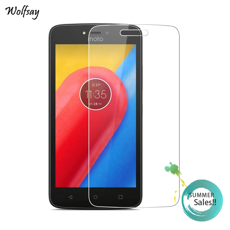 2pcs For Glass Moto C Screen Protector Tempered Glass SFor Moto C Glass FOR Motorola Moto C XT1750 Thin Protective Film Wolfsay