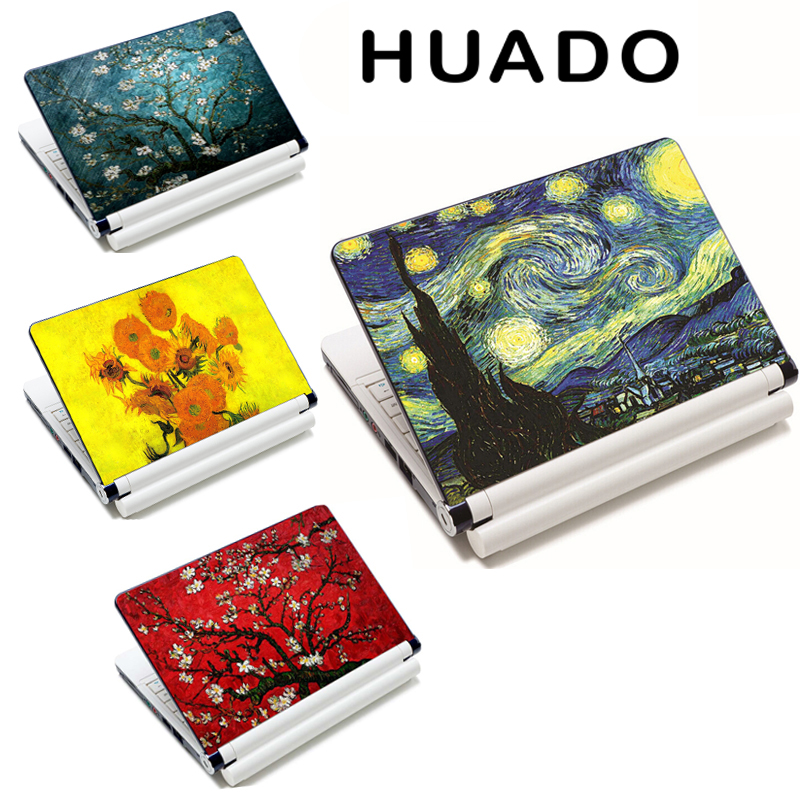 Van Gogh design 15 15.6 17 DIY Laptop Skin para Laptop Notebook Sticker para hp / sony / sumsung / xiaomi / asus Cover Decel