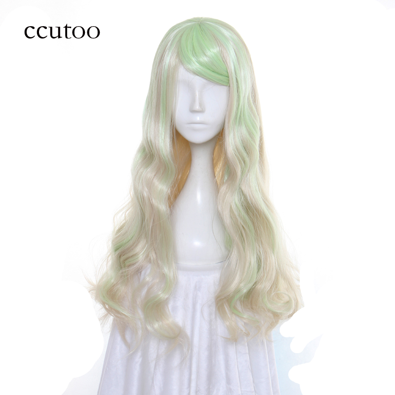 ccutoo 65CM Little Witch Academia Diana Cavendish Cosplay Wig Synthetic Wavy Hair Heat Resistance Costume Party Wigs