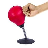 Kids Desktop Punching Speed Ball Gags Joke Toy Focusing Train Leather Pressure Reliever Heavy Suction Reflex