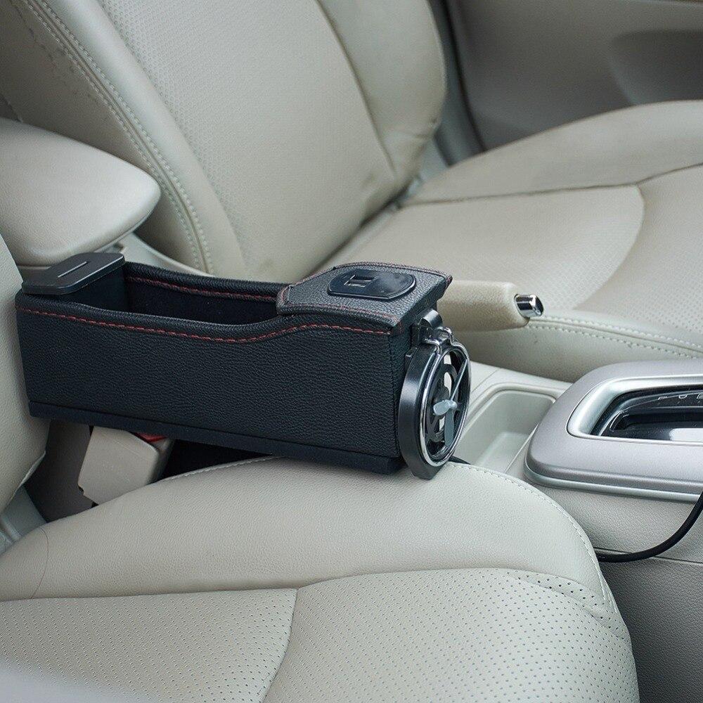 Premium PU Leather Side Pocket Organizer Car Seat Filler Gap Space Storage...