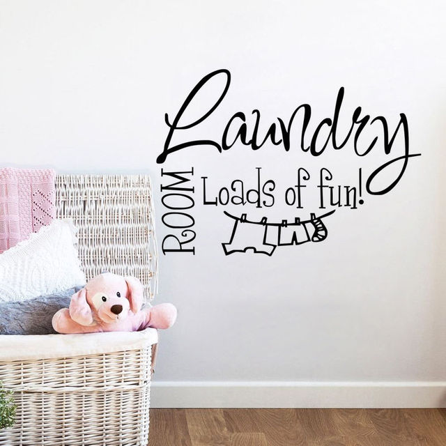 The Laundry Room Loads Of Fun Decal Interesting Hot Selling Vinyl Wall Sticker Quotes Laundry Room Lettering Design Ideas