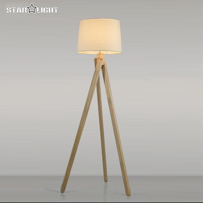 Dark Wood Floor Lamp: Wooden floor lamp industrial lighting fixtures for home decoration house  retro atmosphere tripod floor lamp attic,Lighting