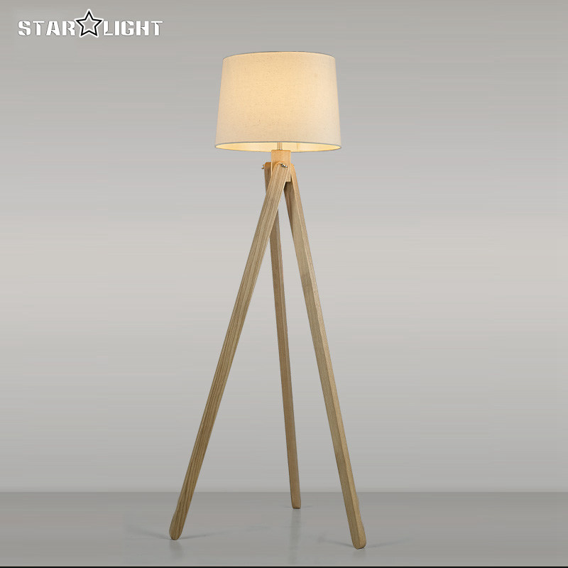 wooden floor lamp industrial lighting fixtures for home decoration house retro atmosphere tripod floor lamp attic