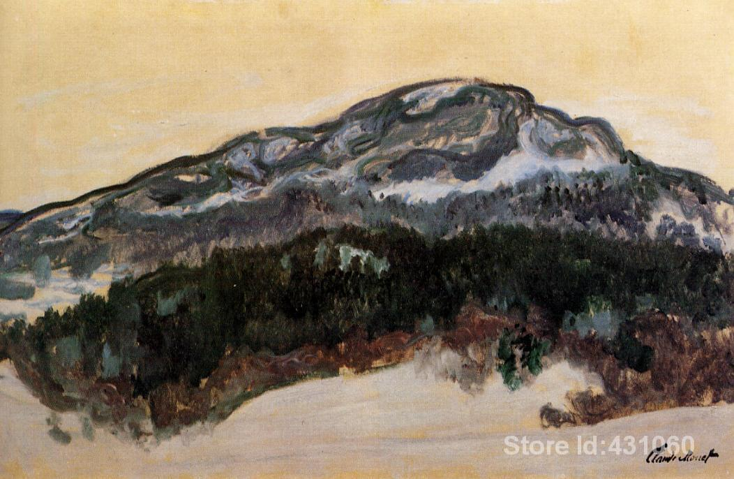 Famous Claude Monet's Paintings Mount Kolsaas 4 Art Gallery for bedroom High quality Hand painted