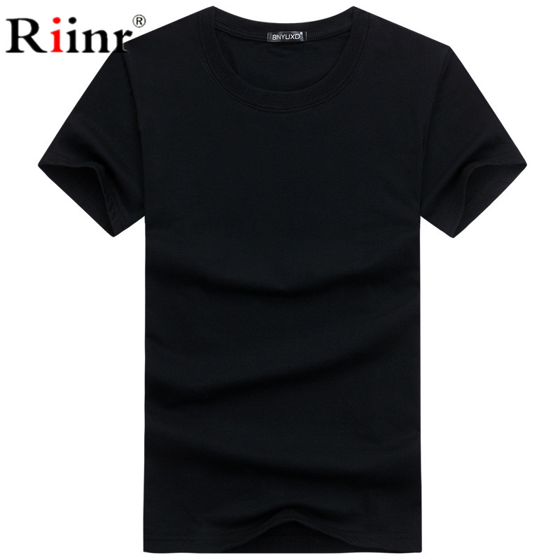Summer Men T-shirts Classical Short Sleeve O-neck Solid Color Loose Basic Tshirt Casual Fitness Men Bottoming Tees Shirts