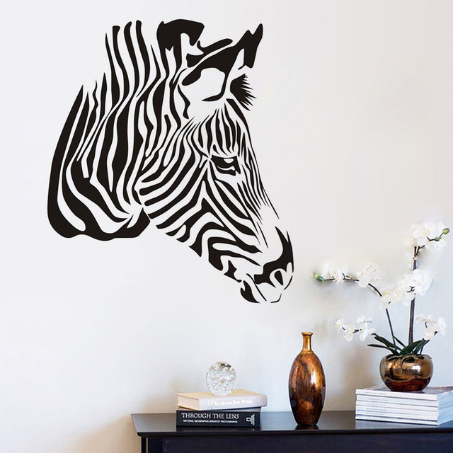 High Quality Zebra Head Wall Stickers For Kids Rooms Home Decoration ...