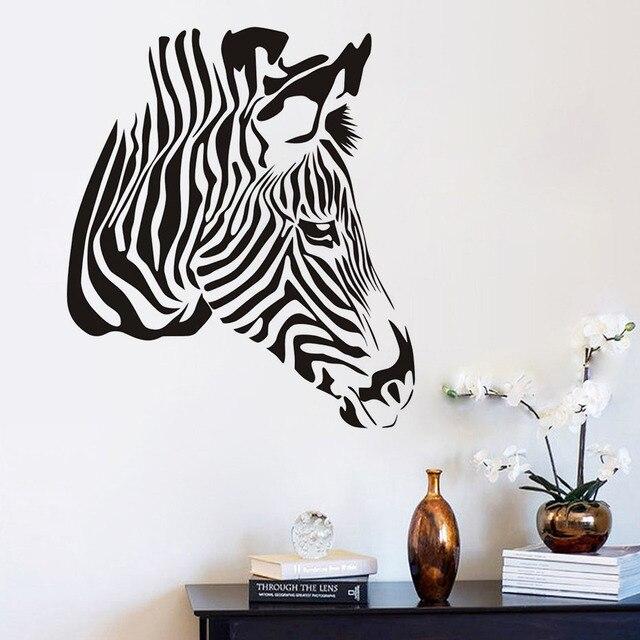 Hochwertige Zebra Kopf Wandaufkleber Für Kinderzimmer Dekoration Zubehör  Kreative Dekorative Aufkleber Wandbild Tür
