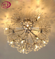 Free Shipping Dandelion Design Led Crystal Chandelier Dia46 H28cm Lustres De Cristal Light LED Cristal Indoor