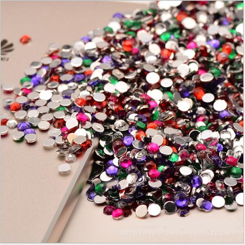 2000 Stks 3mm Bruiloft Decoratie Rhinestone Acryl Kristallen Diamond Nail Kit Gelukkige Verjaardag Confetti Tafel Scatters