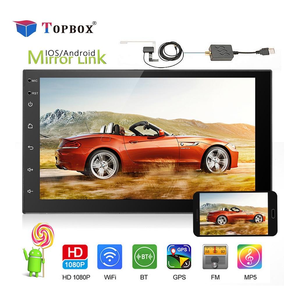 topbox 7 2 din car radio gps navigation autoradio android. Black Bedroom Furniture Sets. Home Design Ideas