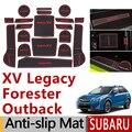 Anti-Slip Gummi Tor Slot Tasse Matte für Subaru Xv cross Legacy Outback Forester 2016 2017 2018 2019 2020 zubehör Aufkleber