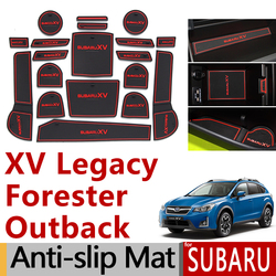 Antideslizante de caucho puerta ranura estera de la taza para Subaru XV Crosstrek Outback Legacy Outback Forester 2016, 2017, 2018, 2019, 2020 accesorios pegatinas