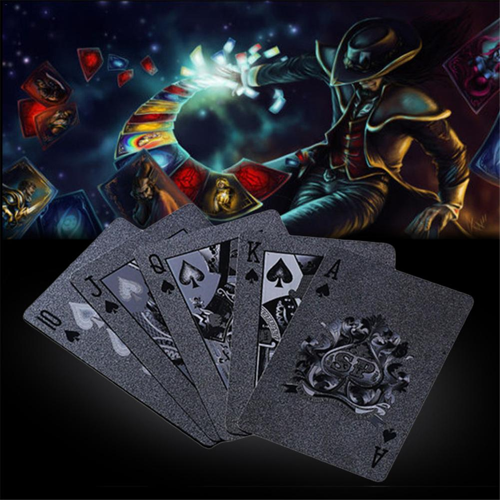 Black Matte Plastic Poker Cards PET Waterproof Playing Cards For Table Games