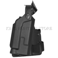 Style Colt 1911 RH Drop Leg Puttee Holster w/Light Case BK Tactical Colt 1911 Holster