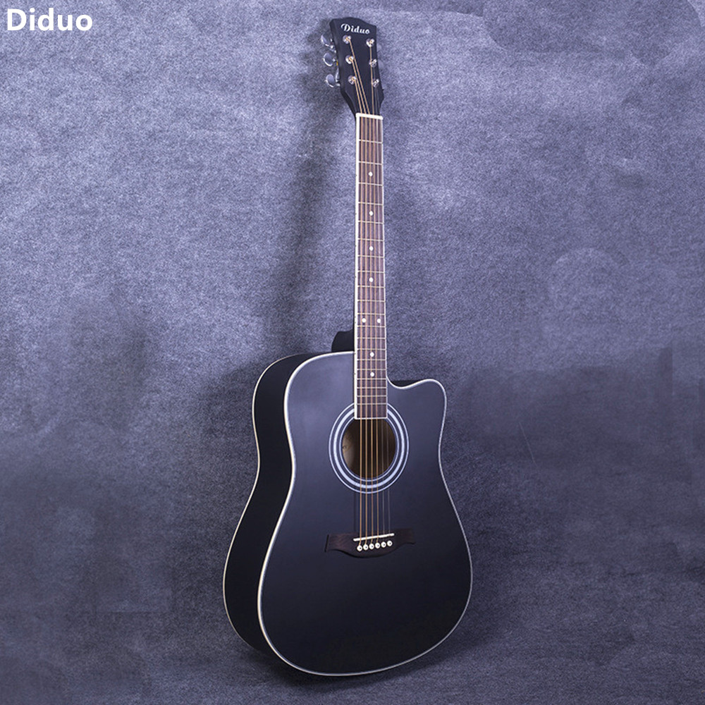 diduo 41 inch acoustic guitar folk basswood six strings guitar rosewood fingerboard musical. Black Bedroom Furniture Sets. Home Design Ideas
