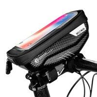 유니버설 방수 자전거 전화 파우치 가방 앞 튜브 핸들 바 전화 홀더 터치 스크린 bycicle 액세서리
