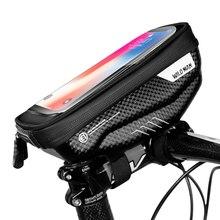 Bolsa universal para celular de bicicleta, à prova d água, tubo frontal, suporte para celular, touch screen, acessórios para bicicleta