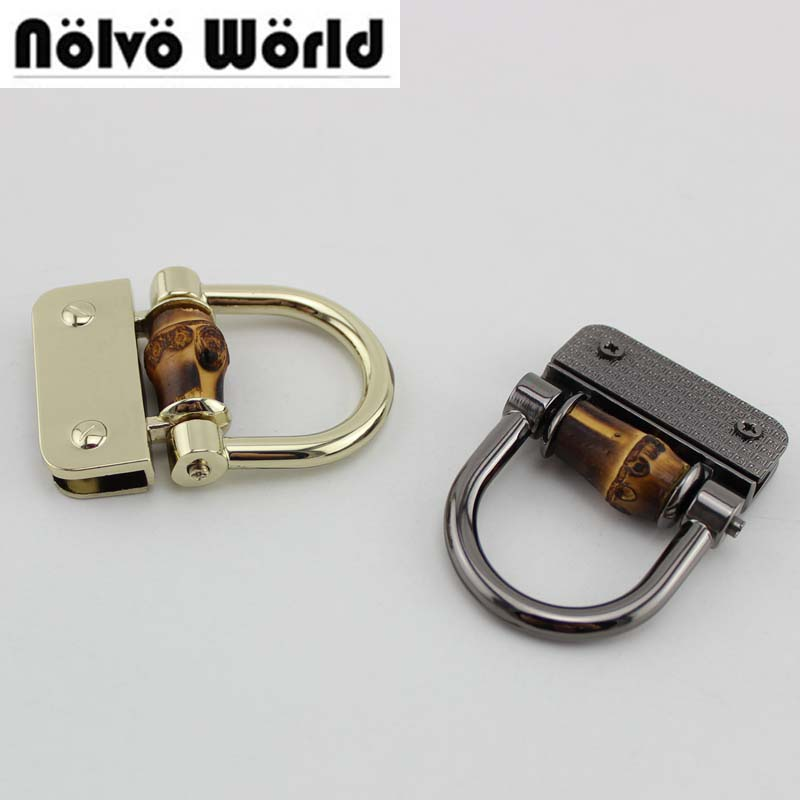 Apparel Sewing & Fabric 4pcs Removable D Ring Metal Bag Buckles Handbag Strap Chain Clasp Hooks With Screw Diy Handles Hanger Accessories Elegant In Style