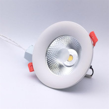 Free Shipping 15W Dimmable COB LED Ceiling Down Light Cool White Warm White AC85-265V