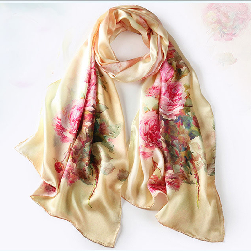 get cheap plain silk scarf aliexpress