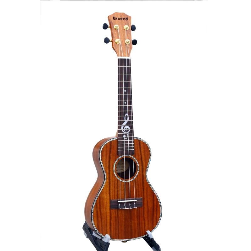 Koncert 23 inç Ukulele Dekoratë speciale e fretboardit Mini Guitar e bërë nga KOA Handcraft Kina guitarra ukelele instrument muzikor