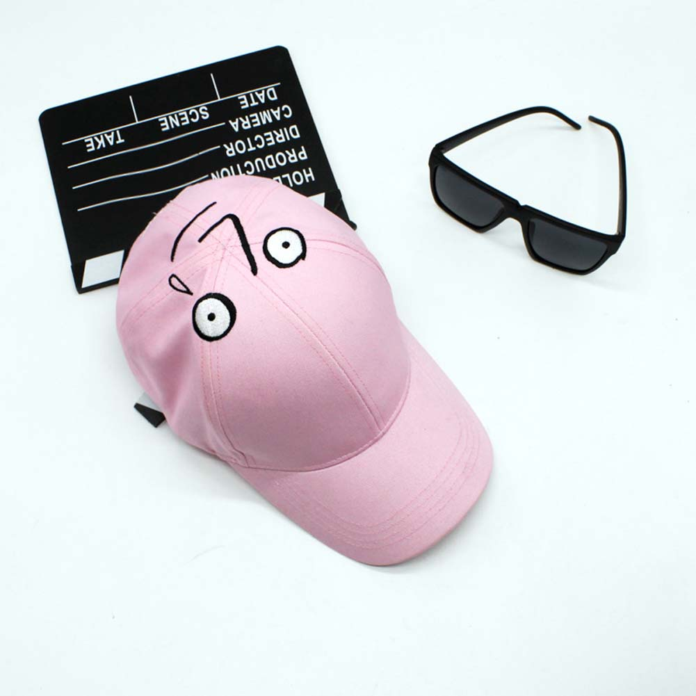 2017 Funny Expression Baseball Cap Face Fun Personality Peaked Cap Monogram Embroidery Hip-hop Cap Lover Party Snapback Curved