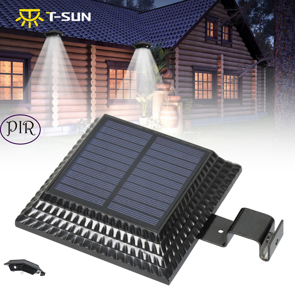 Solarlampen T-sunrise 2 Pack Outdoor Solar Licht Led-strahler Garten Lampe Solar Gutter Licht Außen Beleuchtung Für Outdoor Sicherheit