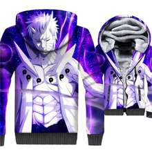 Naruto 3D Hoodies Winter Thick Men's Jacket