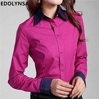 Shirts Blouses Plus Size 5XL 6XL Women's Tops Cotton Button Down Long Sleeve Shirts Formal Tunic Blouse Top Blusas Feminina #B09
