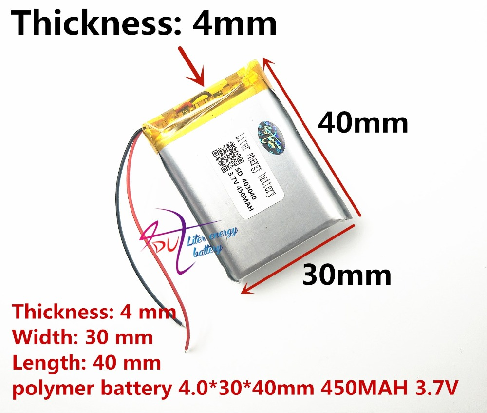 <font><b>403040</b></font> <font><b>3.7v</b></font> 450mah Lithium polymer Battery with Protection Board For MP4 GPS Tablet PCs PDA Free Shipping image