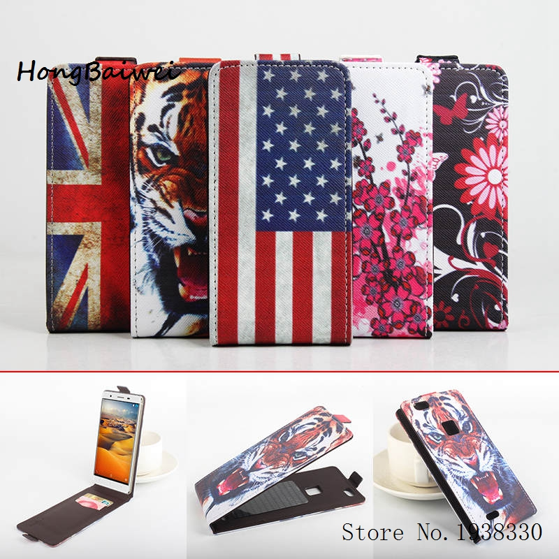 Hongbaiwei 5 Painted Styles PU Leather Case for Cubot S550 Wallet Book Style Phone Credit Card Holder Cases Cell Phone Accessori