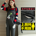 Maternity Bib Pants 2017 Spring Women Sport Loose Pants Maternity-Clothes-Overalls suspender Trousers Pregnant Women XXXL Large