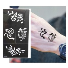 Hot Flower Pattern Tattoo Stencil Drawing For Painting Airbrush Tattoo Stencils For Tattoos Temporary Henna Templates Stickers