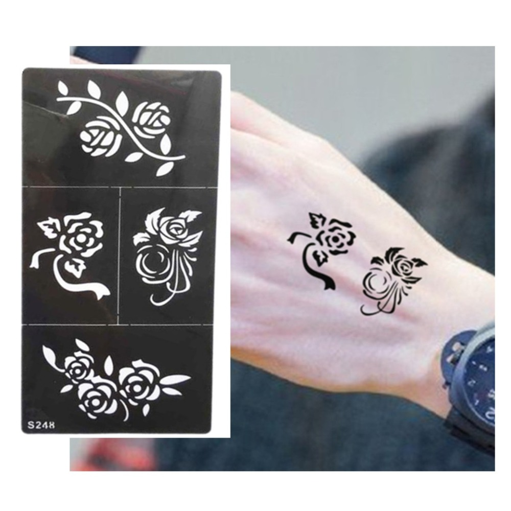 Hot flower pattern tattoo stencil drawing for painting for Henna temporary tattoo stencils