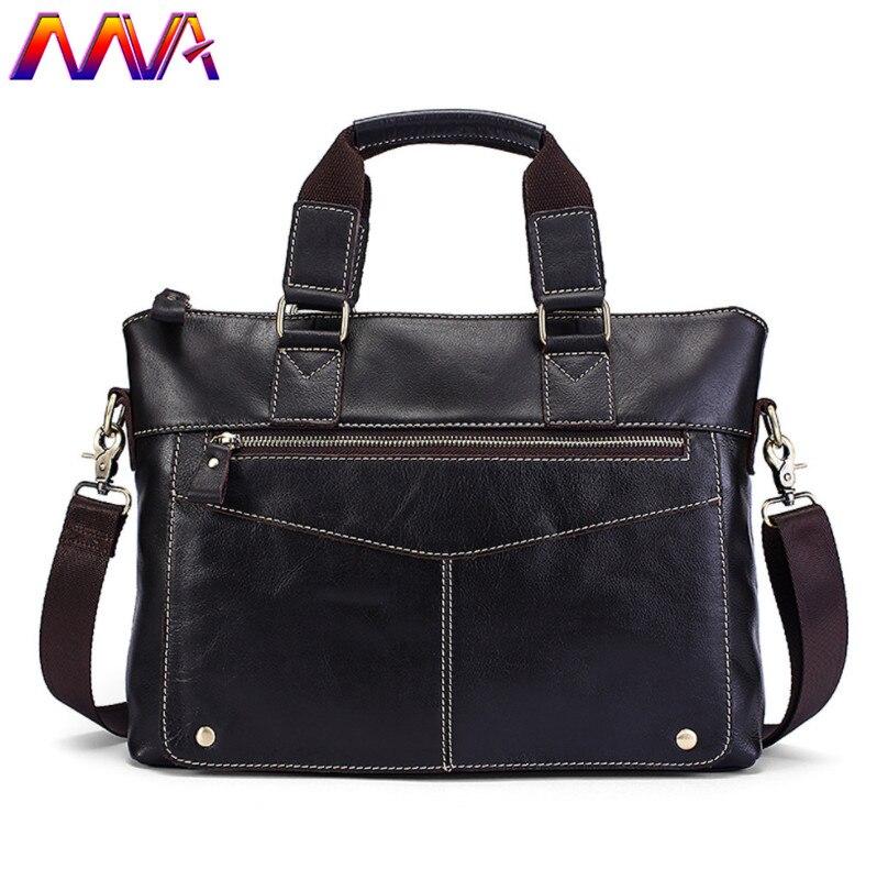 Mva Genuine Leather Men Briefcase Cheap Price Cow Leather Male Briefcase Computer Shoulder Bag Genuine Leather Men Briefcase mva men leather briefcase 100