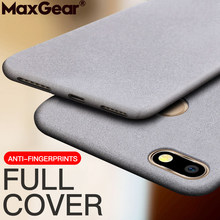 Non slip Matte Silicone Case For Huawei Honor 8 9 10 Lite V10 V20 6X 7X 8X Max View Nova 3 3i 3E 4E 2S 2 Plus 7S Sandstone Cover(China)
