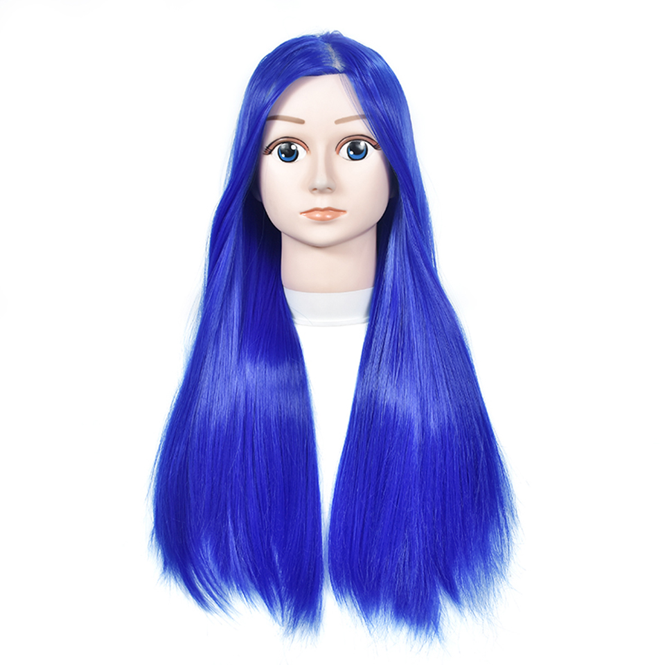 Beauty Salon Comic Mannequin Head With Blue Hair Hairdressing Practice Head Training Wig 60cm Long Hair For Girl Gift Doll Head эспадрильи dali dali da002amaukd4 page 7