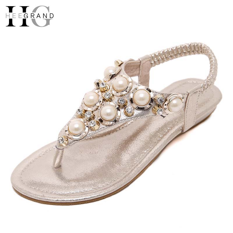 HEE GRAND Summer Flip Flops Gladiator Sandals Slip On Wedges Platform Shoes Woman Gold Silver Casual Flats Women Shoes XWZ2907 lanshulan wedges gladiator sandals 2017 summer peep toe platform slippers casual glitters shoes woman slip on flats creepers