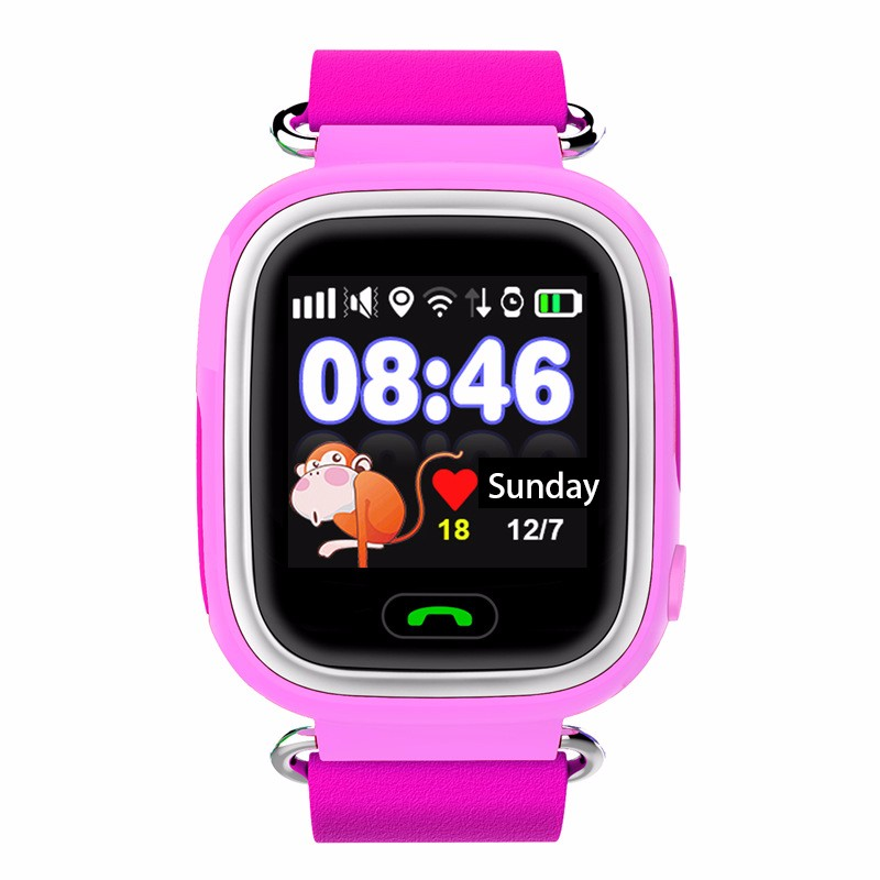 Q90 GPS Smart Watch Kids Watch with WiFi Touch screen SOS call pedometer Tracker for Children Safe Anti-Lost Monitor Device children gps smart watch q750 baby watch with wifi 1 54inch touch screen sos call location device kids watch phone montre f15