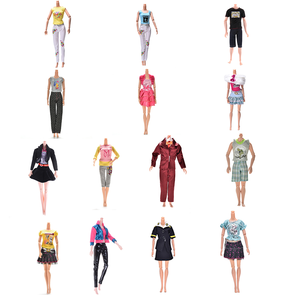 Elegant Handmade Party Dress For Barbie Doll Floral Doll Dress Clothes Clothing Or Crystal Shoes Dolls Accessories Multi Styles