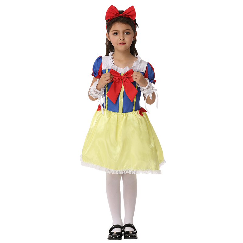 Girl Snow Grow Princess Party Cosplay Dress Halloween Costume for Kids Girl  Costume Set Stage Costume Child